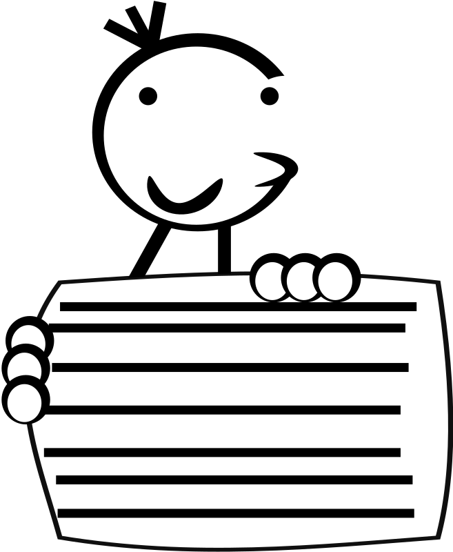 wimpykid5 by PeterBrough - wimpy kid caracter holding a board.