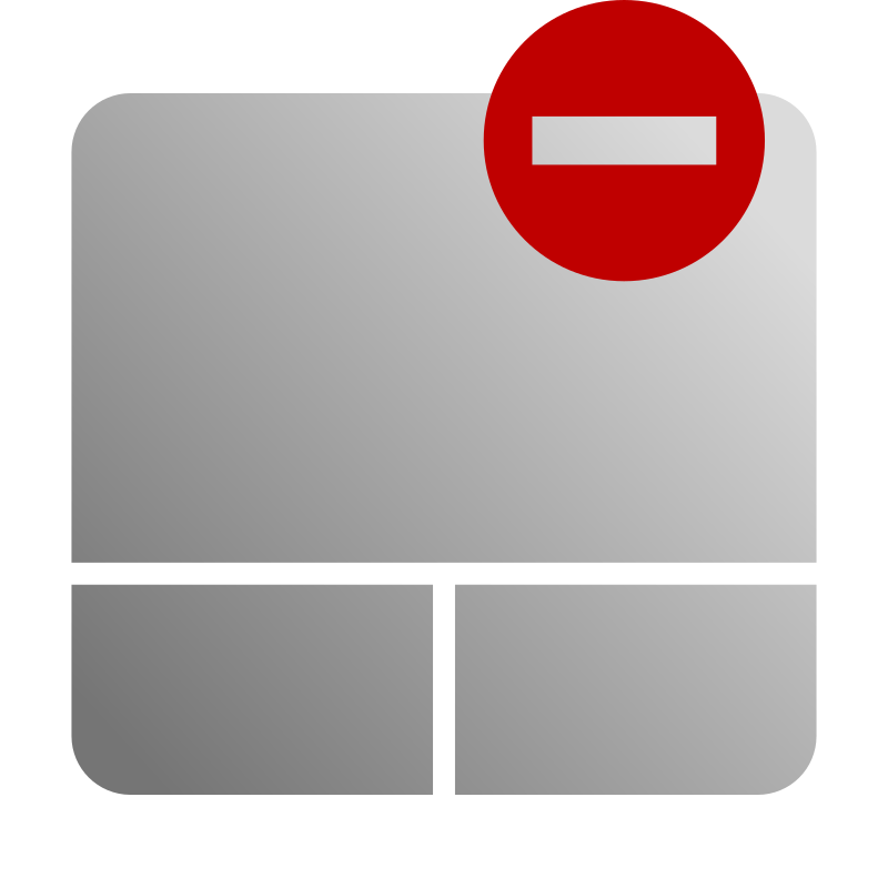 Touchpad Disable Icon by kuba - Icon inspired by Awoken gtk icons theme
