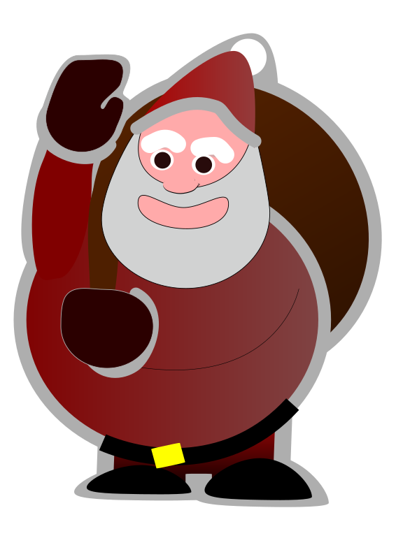 Sweet Santa by alexpnd - A sweet and cheery eyed Santa waving to the viewer whilst holding his magical toy bag.