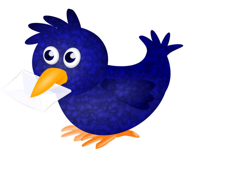 New bird by pawelf - cute Twitterbird only made for modern (SVG)browser (not Safari)