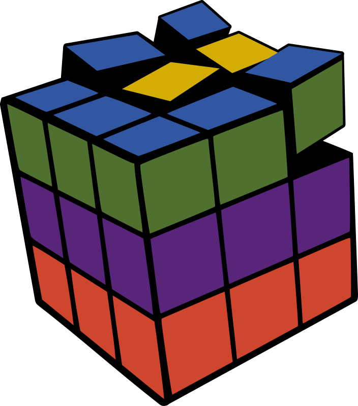 Rubik 3D Colored by leogg - A 3D Rubik's cube