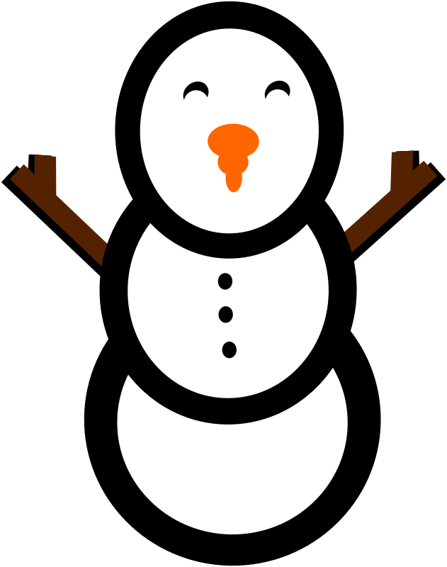 snowman by PeterBrough - a simple three ball snowman
