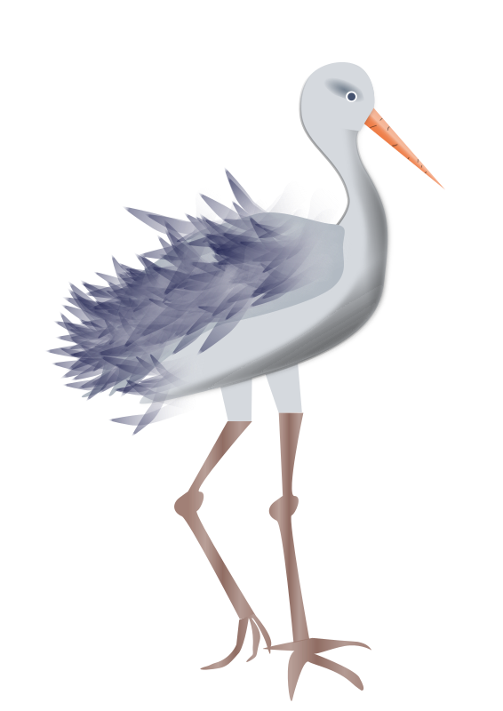 Bird with legs by baditaflorin - The first drawing i cut a little of the legs