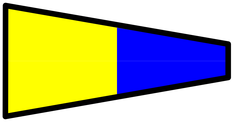 signal flag 5 by Anonymous