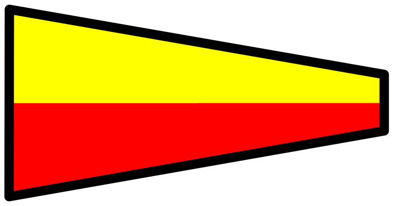 signal flag 7 by Anonymous - Signal flag number 7.