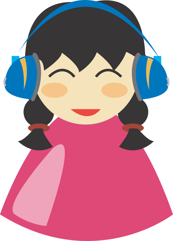 Cute girl with headphone by dcatcherex - Cute girl with headphone