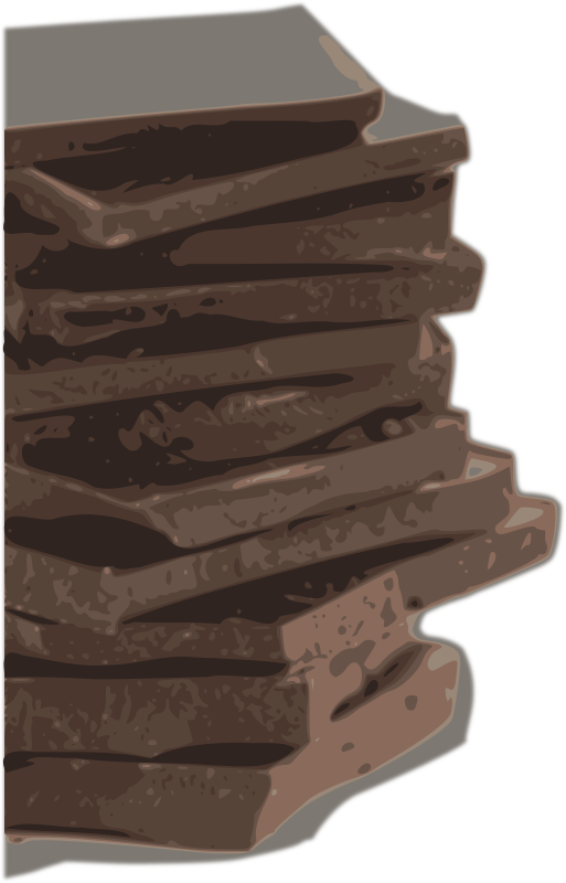 Chocolate Block Pieces (Tracing) by jiero - Chocolate,chocolate block, Block, chocolate pieces, Tracing, trace