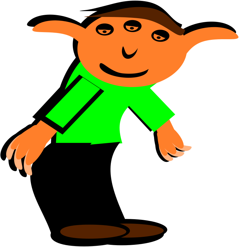 elf by PeterBrough - clip art, clipart, elf,