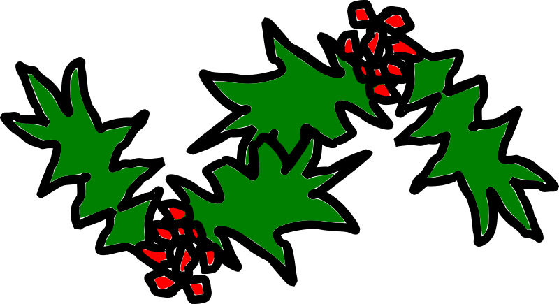 xmas-holly by kattekrab - Hand drawn holly.