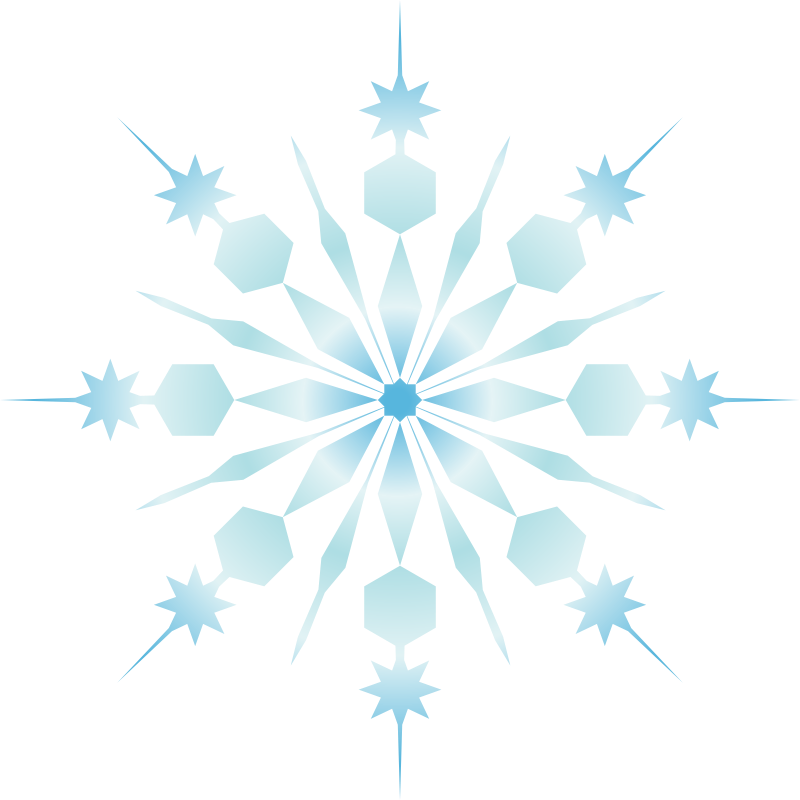 snowflake by jgm104 - A snowflake I illustrated and filled with a gradient.