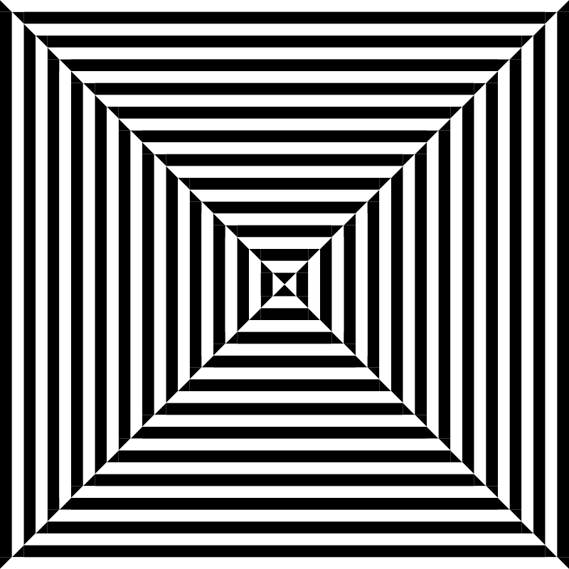 trapezebra by 10binary - I call this trapezebra based on the fact that it has the appearance of trapezoids and has a lot of stripes. It later became my preferred center of dizzink