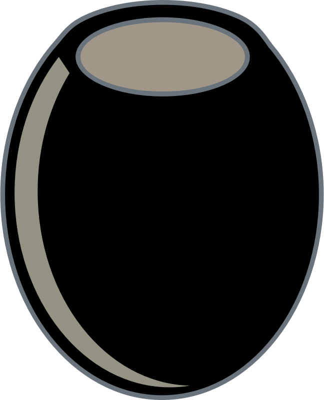 black olive by johnny_automatic - a simple graphic of a pitted black olive