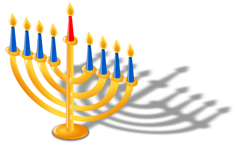 Hanukkah Lamp by kg - Hanukkah lamp with 9 candles composed of: 8 candles for each day of the holiday and 'Shamash' candle (the middle one) that used to light the other candles. Thanks to the person how made the original image. Very nice...