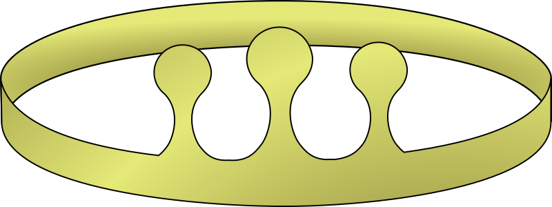simple crown with three risers by Anonymous