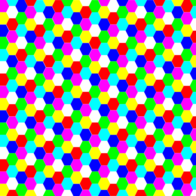 hexagon colorful by 10binary