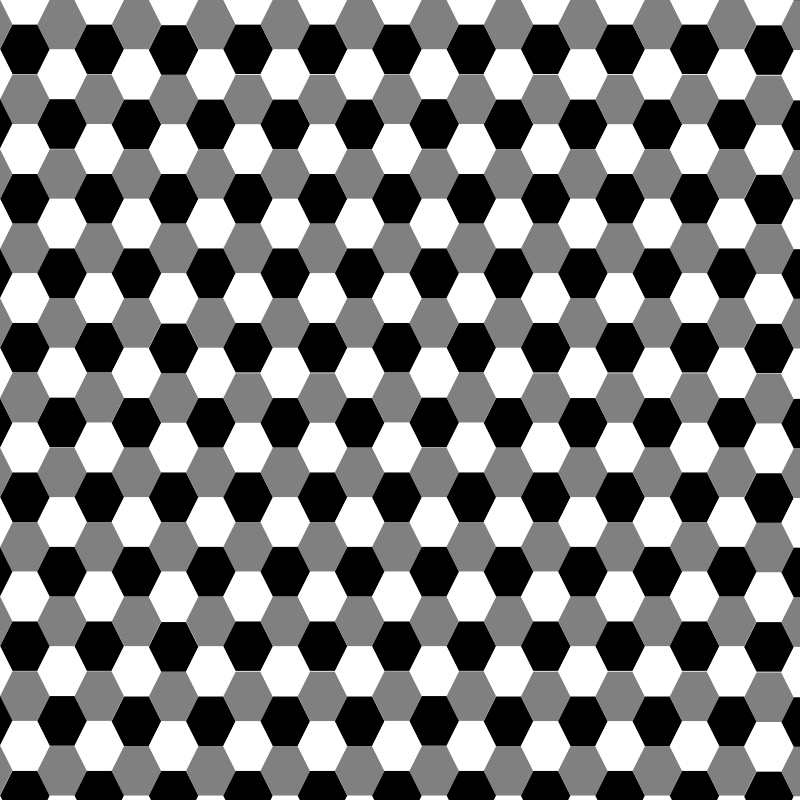 hexagon grayscale by 10binary - this is one of my favorites, just a bunch of hexagons of black white and gray