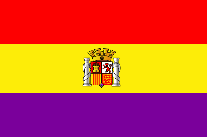 Flag of Spain second republic historic by Anonymous -