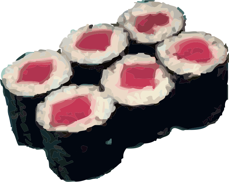 tekka maki sushi by johnny_automatic - tuna roll or tekka maki