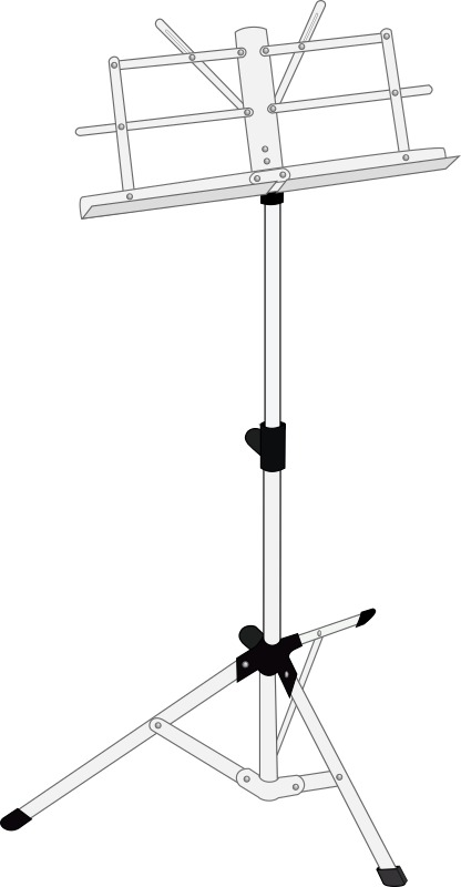 Music stand by J_Alves - A musical score stand. Drawn in Inkscape.