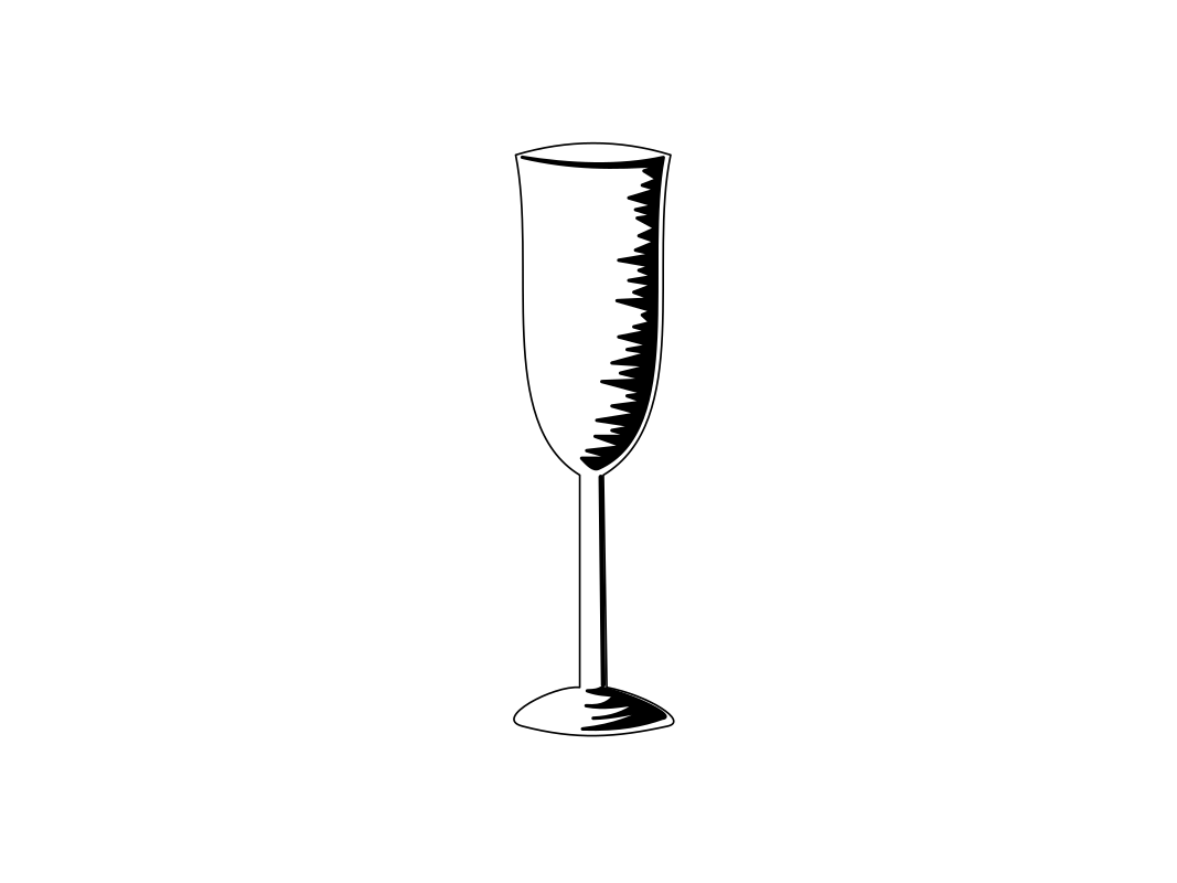 Champagne Glass by gem - A simple Champagne Glass for monochrome Designs.