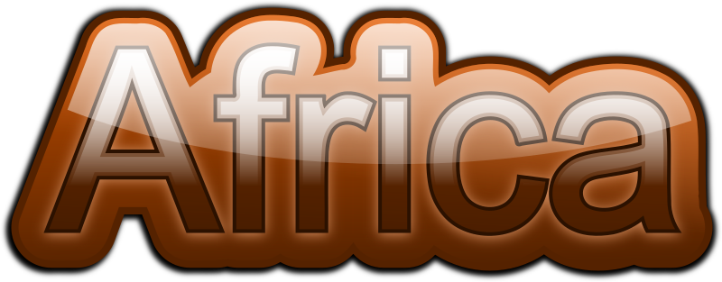 Clipart Africa Text