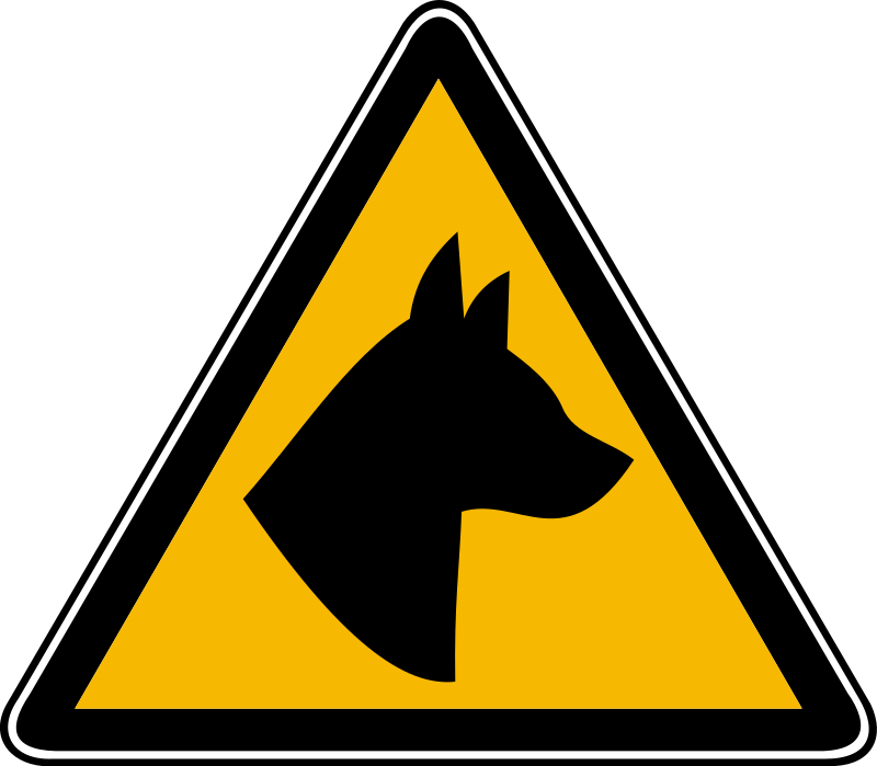 Clipart Dog Hazard 2