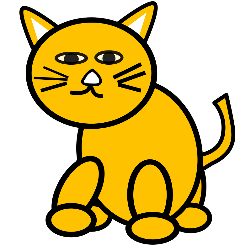 cat by salvor - cat suitable for children to draw or change.
