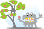 tree with apples and a monster Thumbnail