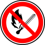 Fire forbidden sign