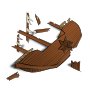 RPG map symbols: Shipwreck