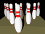 Bowling pins, shaded