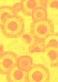 Yellow and Red Circle Pattern Scrapbook Paper