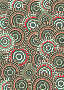 Seafoam Salmon Circle Pattern Scrapbook Paper