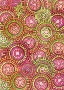 Pink Lime Circle Pattern Scrapbook Paper