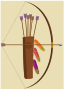 bow, arrow and quiver