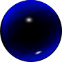 Glass Blue Ball