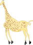 Rock Art Acacus Giraffe - Colored