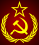 hammer sickle star wreath