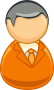 Architetto remix - Orange grey man icon
