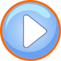 Blue Play Button With Focus