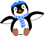 Pinguin im Winter />