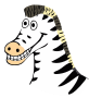 drawn zebra />