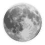 weather icon - full moon