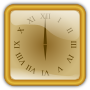 Golden clock. squared />