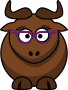 Cartoon Gnu Nerdy/Cute