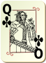 Guyenne deck: Queen of clubs