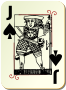 Guyenne deck: Jack of spades