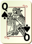 Guyenne deck: Queen of spades