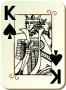 Guyenne deck: King of spades