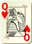 Guyenne deck: Queen of hearts